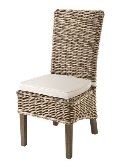 Atlantic Grey Wash Rattan Dining Chairs - Pair - Special Order